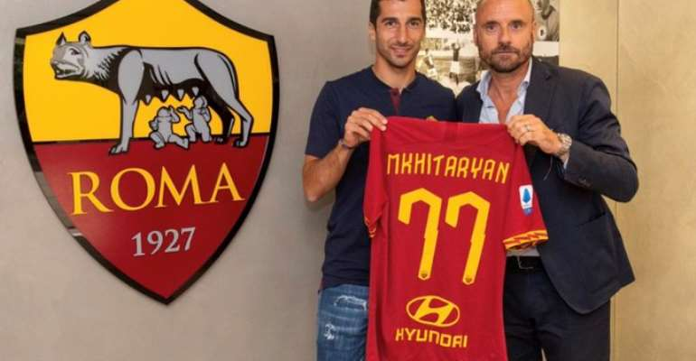 Mkhitaryan to leave Arsenal for Roma