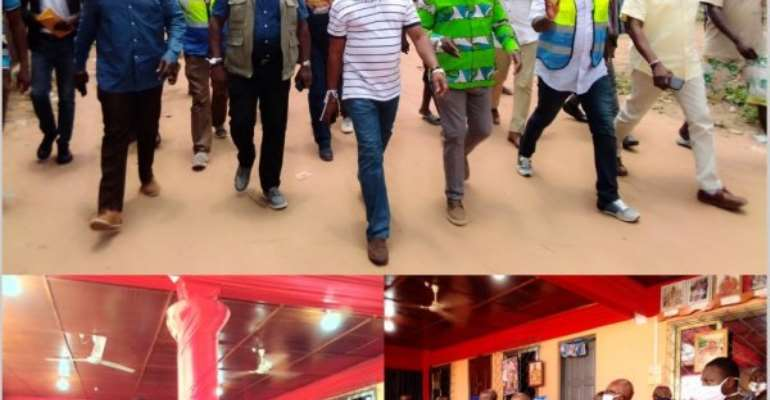 Roads Minister Inspects Ongoing Works On Hohoe Town Roads