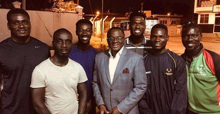 GOC President Visits Ghana Rugby Team