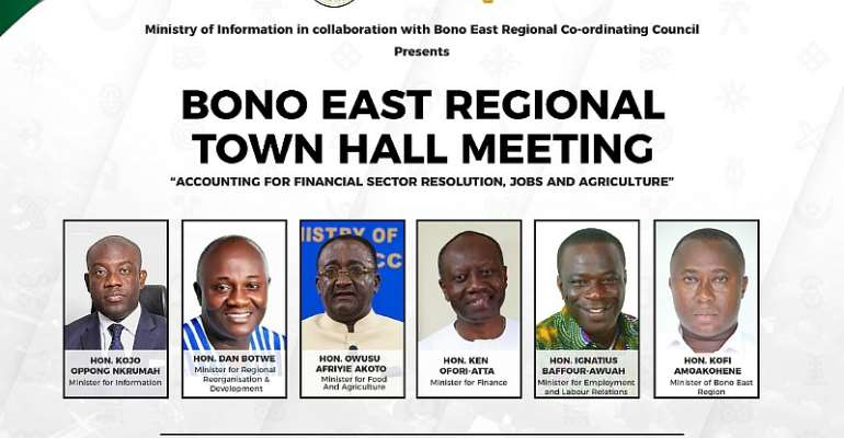 Government Takes Regional Town Hall Meetings To Bono East