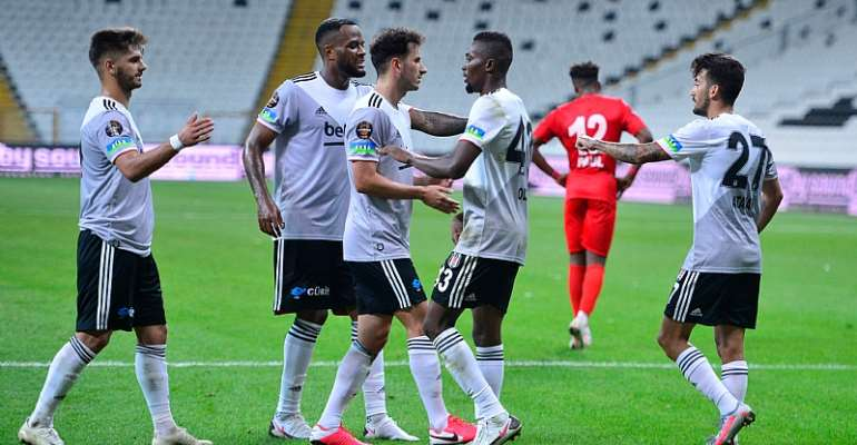Bernard Mensah Scores First Besiktas Goal In Friendly Victory Against Antalyaspor