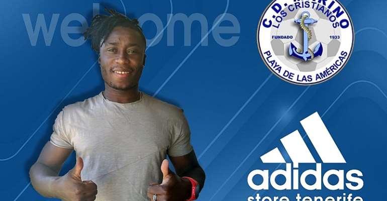 OFFICIAL: Spanish Outfit CD Marino Sign Ghanaian Defender Joshua Kweku Anaba