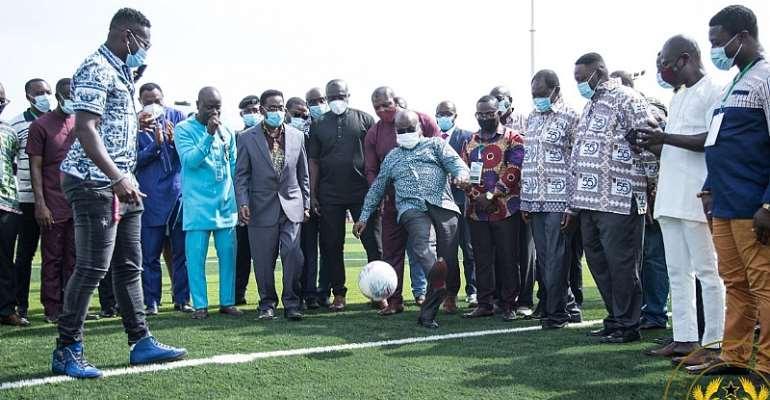 President Akufo-Addo Commissions UPSA Astro-Turf [PHOTOS]