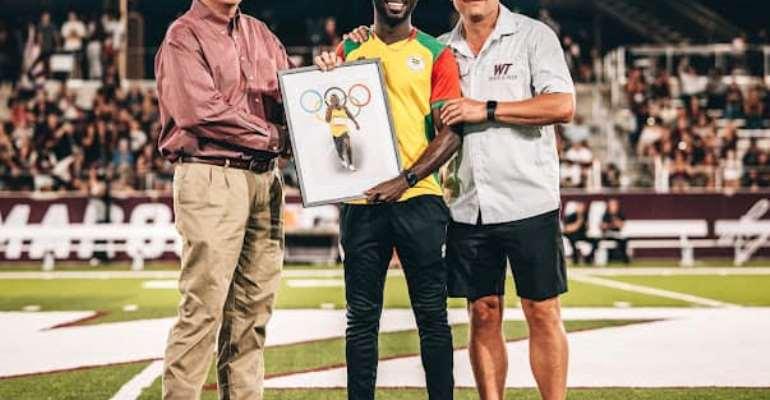 Benjamin Azamati honoured by West Texas A&M Athletics