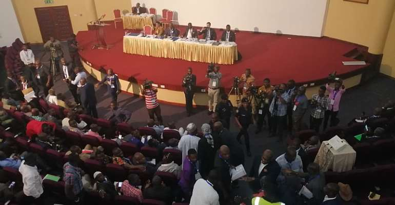 Alhaji Grusah Clash With Kojo Yankah At GFA Extra-Ordinary Congress [PHOTOS]