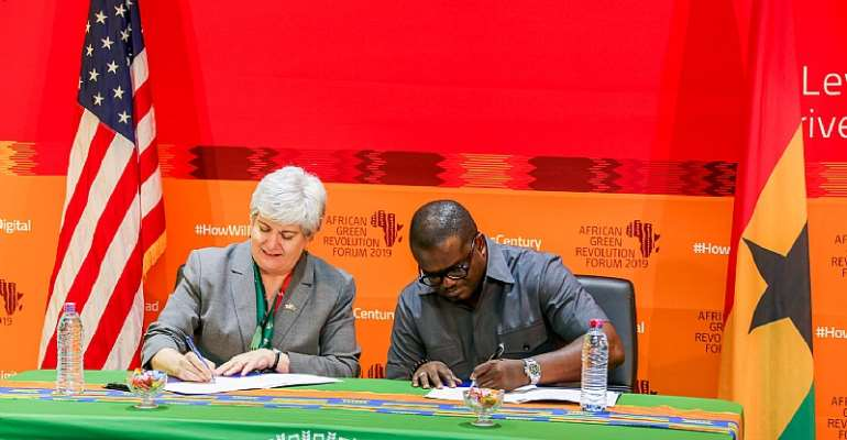 United States AndGhana Sign Declaration Of Partnership OnFood Security