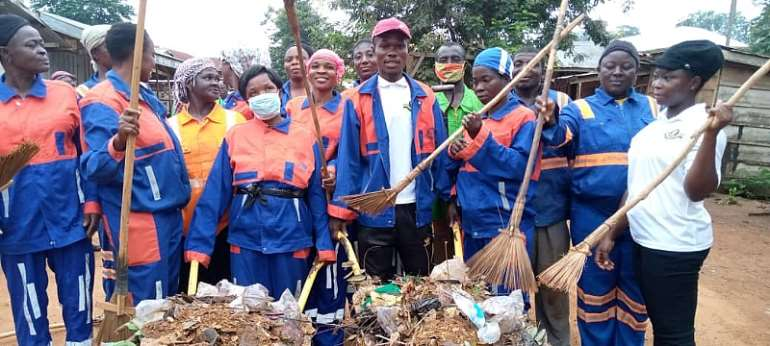 Asunafo South NASPA Cleans District Capital