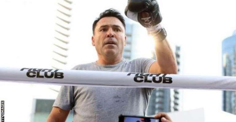 De la Hoya was due to fight Vitor Belfort in Los Angeles next weekend, 13 years after retiring