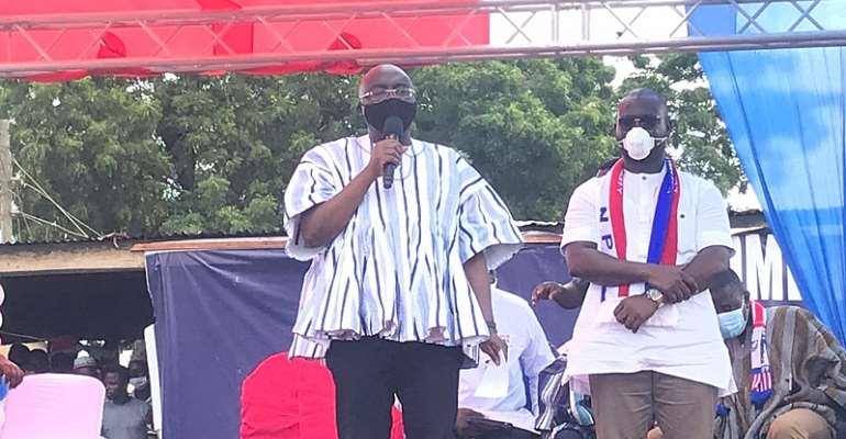 Dr. Mahamudu Bawumia with Hassan Tampuli in Gushegu