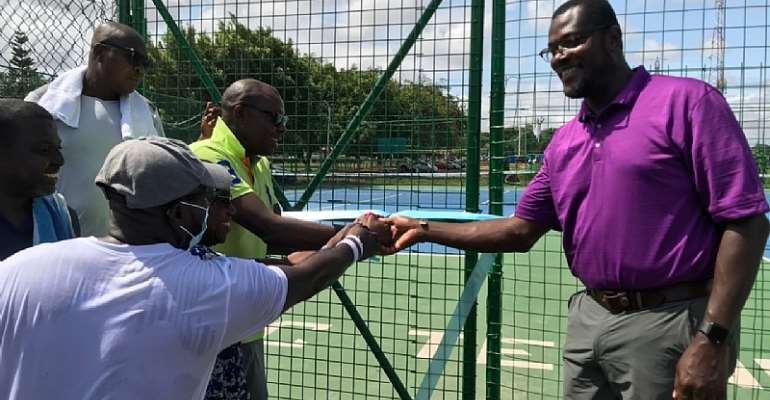 Atomic Tennis Club rededicates tennis courts