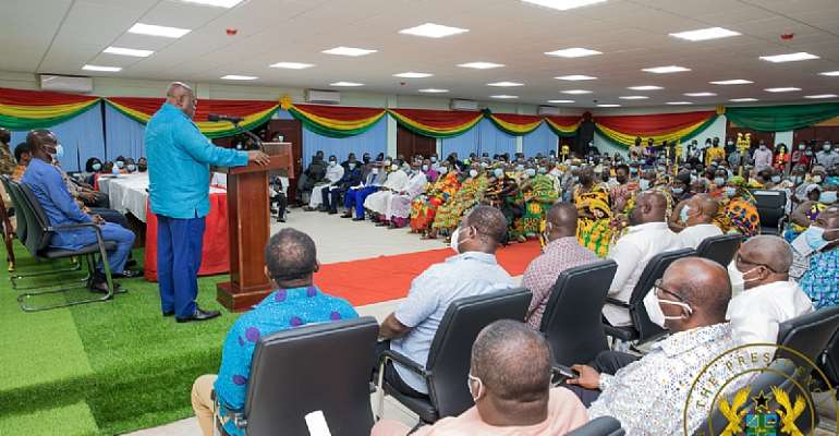Akufo-Addo commissions Western-North Region RCC building