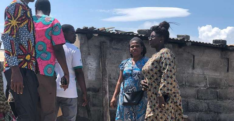 Dzifa Gomashie visits Family of kidnapped girl In Aflao