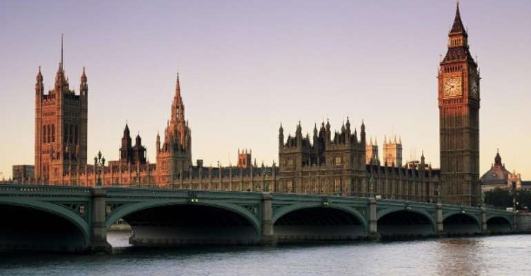 The Houses of Parliament in London: The British House of Lords quashed a no deal Brexit.