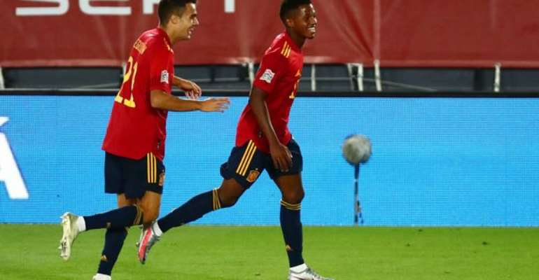 UEFA Nations League: Ansu Fati Scores For Spain On Record-Breaking Night
