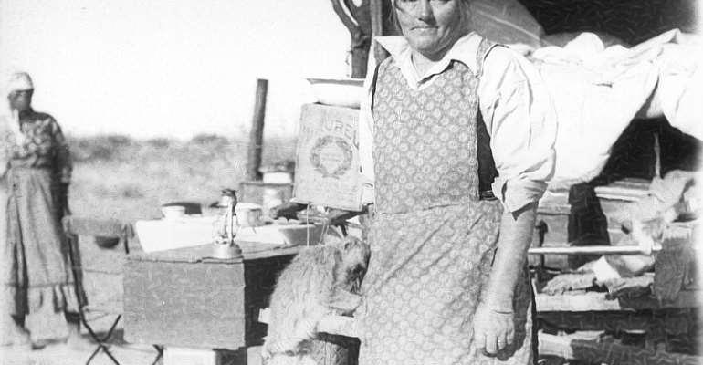Detail of an Aneliese Scherz photograph from 1930s Namibia. - Source: Anneliese Scherz/Basler Afrika Bibliographien Scherz Collection