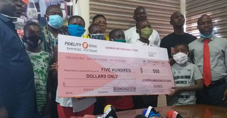 13 Year Old Rising Boxing Super Star Awinongya Jr. Donates To Children Living With HIV