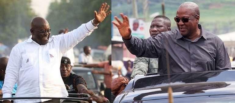 Akufo-Addo, Mahama on 'road rash' as Mahama takes 'thank you' tour to Ashanti, other regions, Akufo-Addo tours Western North