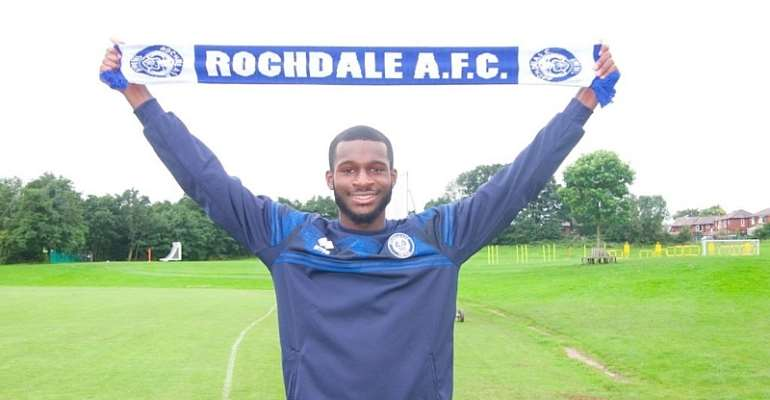 Rochdale A.F.C Sign Ghanaian Defender Yeboah Amankwah On Loan From Man City