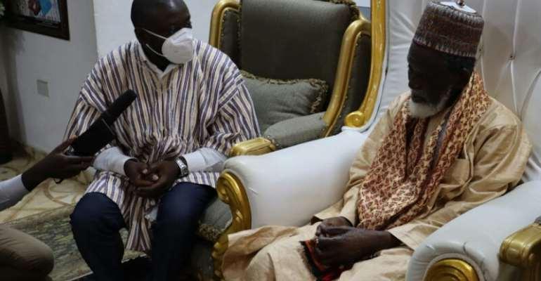 Independent Presidential Candidate Kofi Koranteng Visits Chief Imam