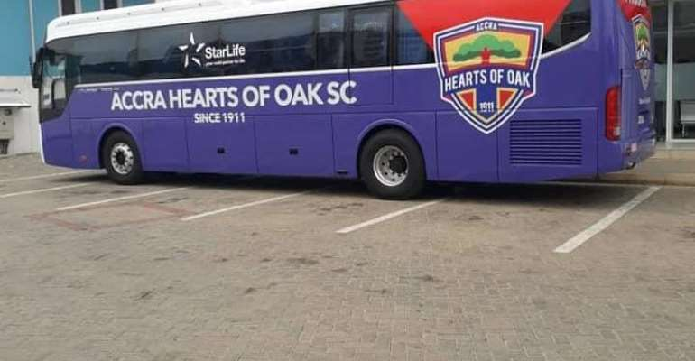 New Hearts of Oak team bus