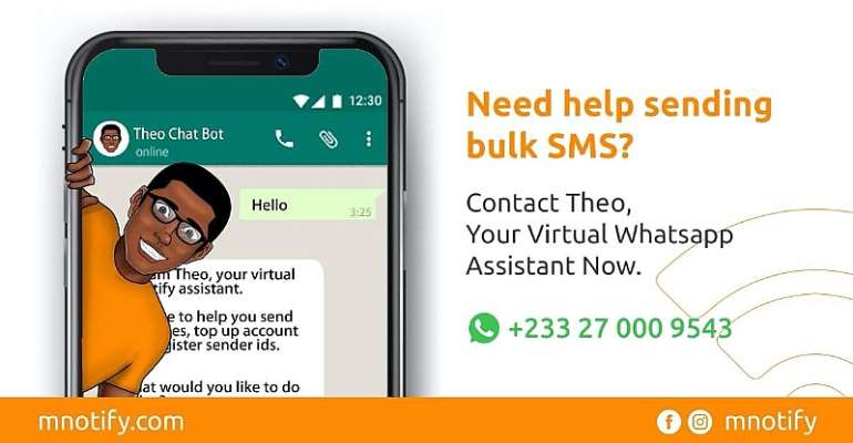 Bulk SMS Provider mNotify Launches ''Theo the Bot''