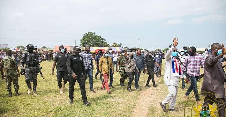 President Akufo-Addo arrives at Sene East