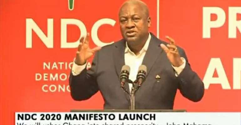 [Full Text] Mahama Speech At The Launch Of NDC 2020 Manifesto