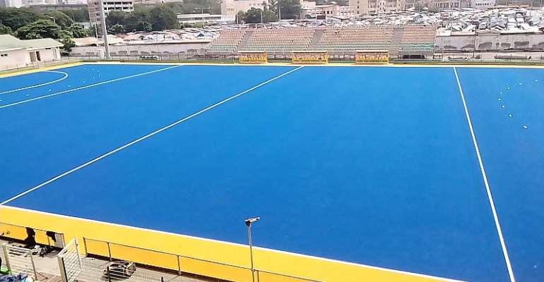 Theodosia Okoh hockey turf set to be completed