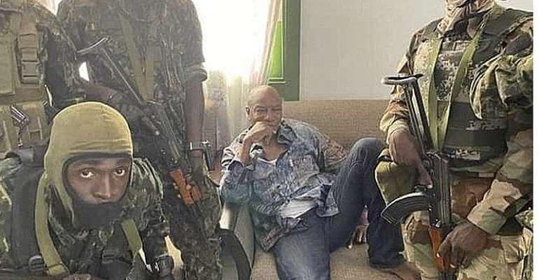 President Alpha Condé was captured on Sunday
