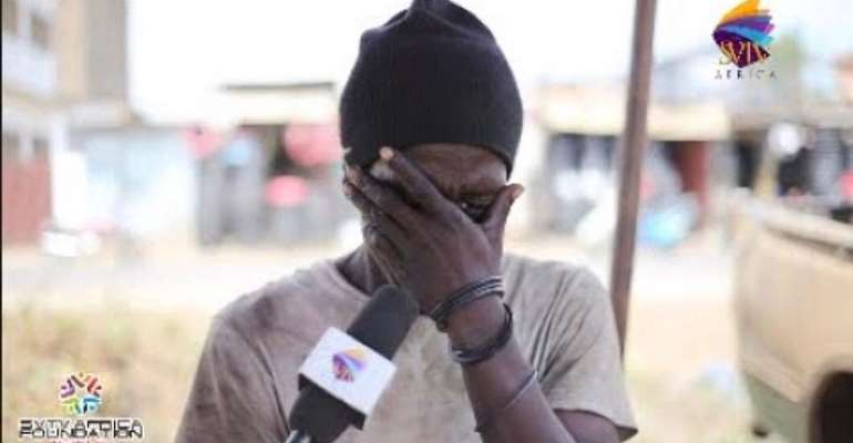 VIDEO: Galamseyer Weeps Over Drug Addiction On LIVE TV