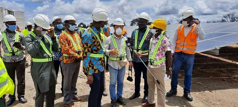VRA Boss On Working Visit To Lawra, Kaleo Construction Sites