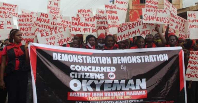Akyem Group Fight Mahama, Adongo; Stage Demo Over ' Sakawa' Tag