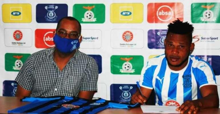 Former Hearts of Oak Striker Selasie Bakai Joins Kabwe Warriors FC On A Two Year Deal