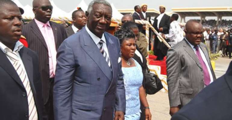 Ex-president Kufuor was there