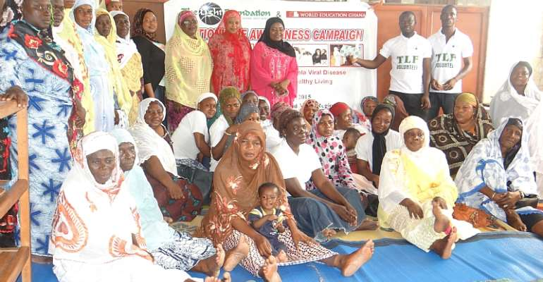 TLF Ghana Join Hands With World Education Ghana To Sensitize 5,000 Muslims On Ebola