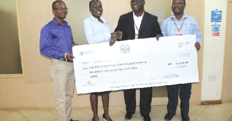 ABL presents cheque for GH¢14,000 to Graphic
