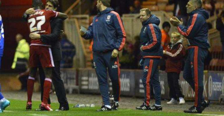 Boro hero: 'Hugs and goals prove there is no problem with Adomah' - Middlesbrough boss