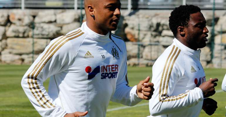 Olympique Marseille eager to sell Andre Ayew when transfer window re-opens in Janaury