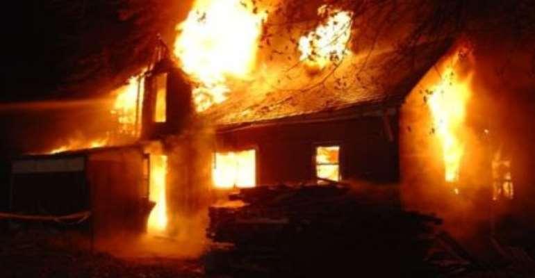 Wamfie chief's palace razed down by fire