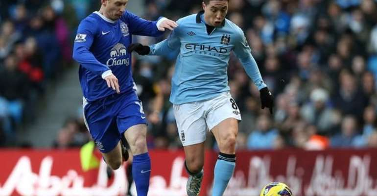 Kolarov and Nasri give Manchester City victory at Everton