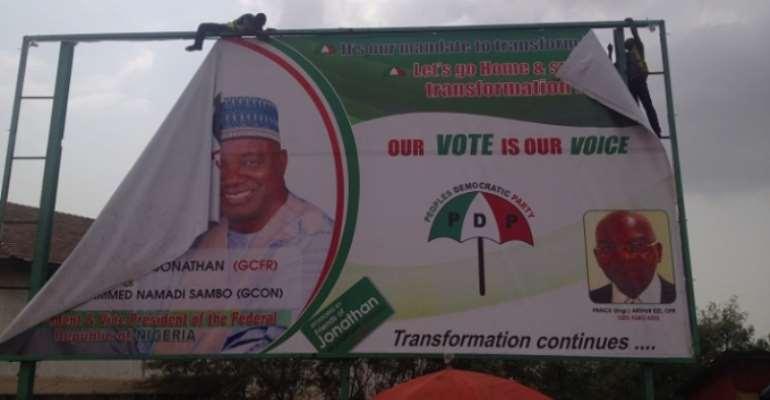 AMA removes Nigeria election billboards