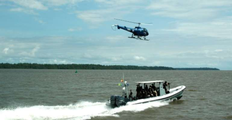 19 countries are banding together to fight piracy on the high seas.  By HO (CAMEROONIAN ARMY/AFP)