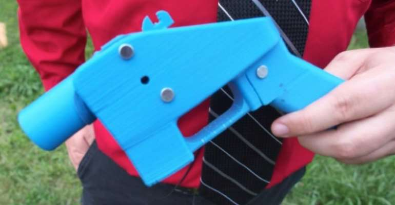 3D printing technology has made it possible for people to make complex objects -- including plastic firearms, such as this one produced in the US.  By Robert MacPherson (AFP/File)