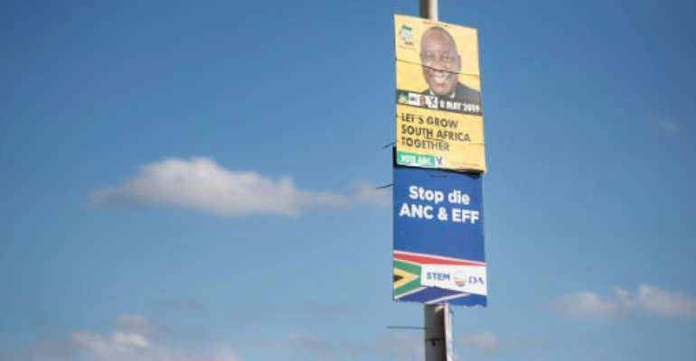 48 political parties will contest South Africa's general election on May 8.  By RODGER BOSCH (AFP/File)