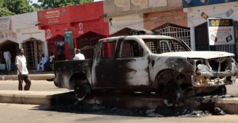 Heavy violence broke out in Damaturu last week.  By Aminu Abubakar (AFP)