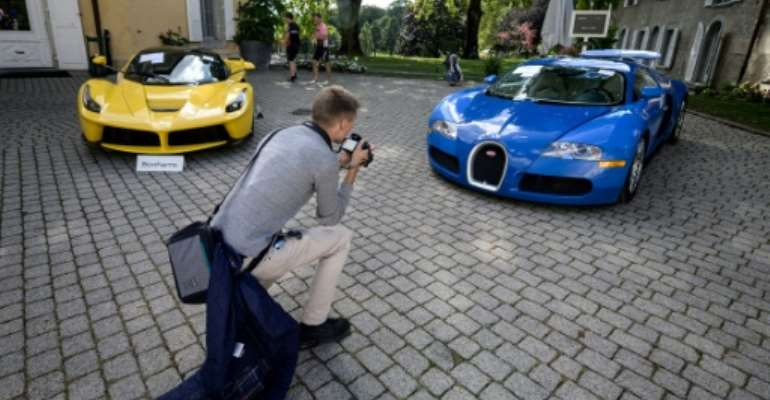 A collection of luxury cars seized from Equatorial Guinea's vice president Teodorin Obiang Nguema were auctioned off in Switzerland 2019: Britain has now announced sanctions against him and four other figures from other countries accused of corruptly plundering public funds.  By FABRICE COFFRINI (AFP)