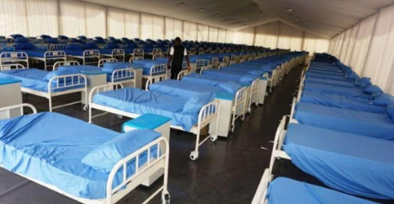 A coronavirus isolation centre at Kano stadium was built with the help of Africa's richest man Aliko Dangote.  By AMINU ABUBAKAR (AFP/File)