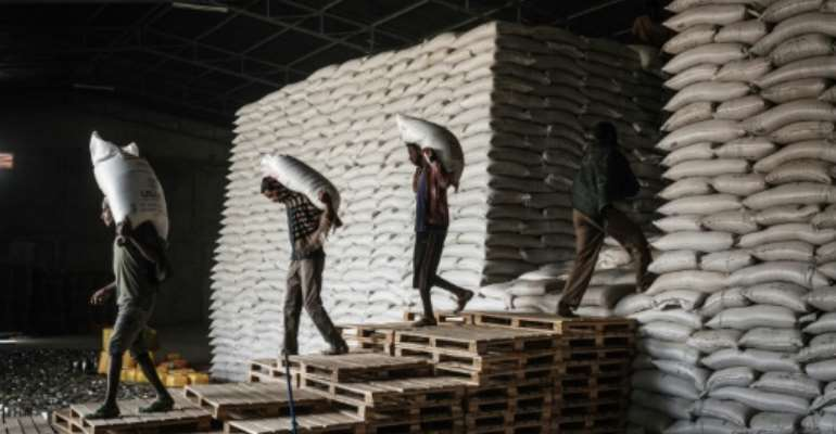 A de facto blockade is preventing most aid from reaching Tigray.  By Yasuyoshi CHIBA (AFP/File)