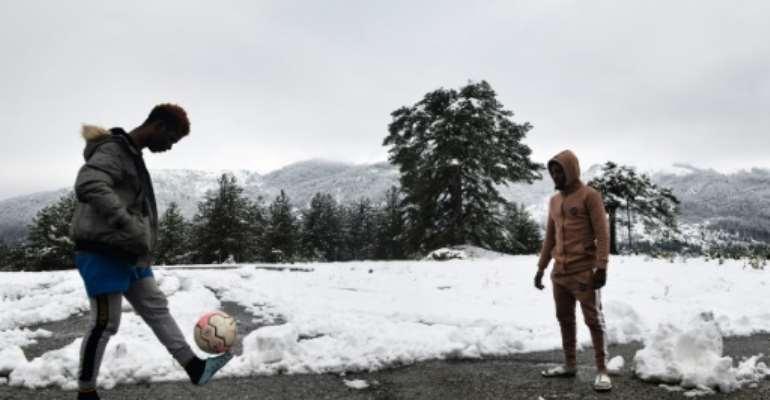 A disused Greek ski lodge currently hosts 116 asylum-seekers.  By Sakis MITROLIDIS (AFP)