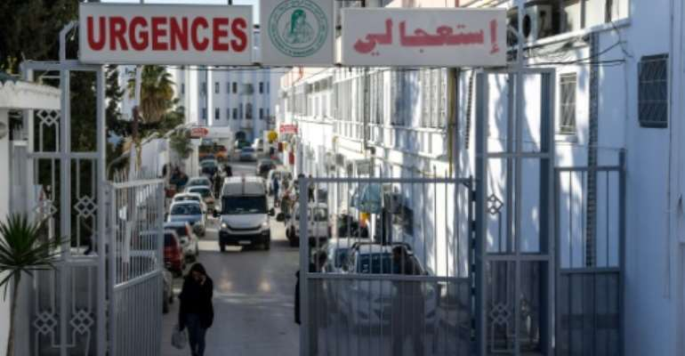 A dozen newborn babies who died at this state hospital in the Tunisian capital are believed to have been killed by an infection acquired at the facility.  By FETHI BELAID (AFP)